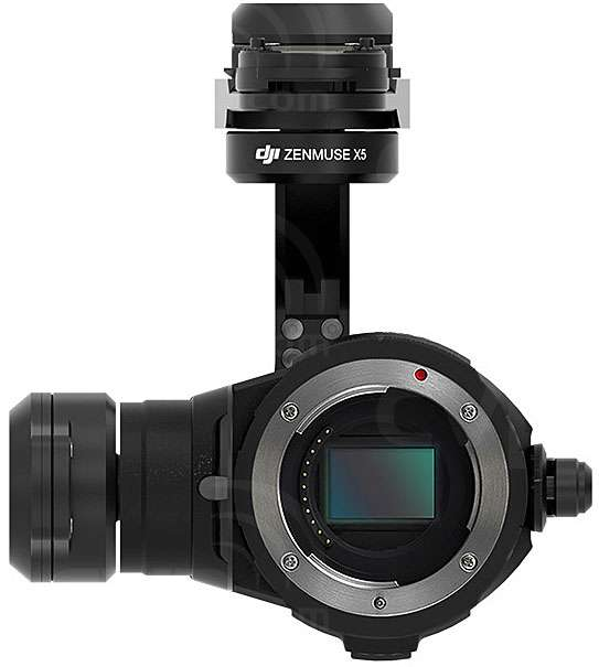 Zenmuse X5 gimbal and camera (no lens)