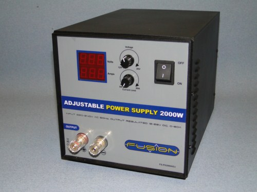 Adjustable power supply 2000W swith reg. 230V/12 0-80A